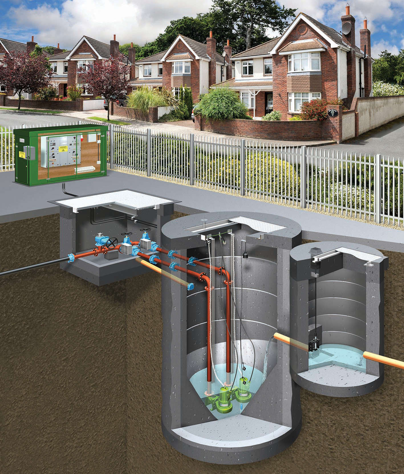 Adoptable Pumping Stations on residential bridge design, residential septic tank design, residential drainage design, residential irrigation design, residential boundary wall design, residential patio design, residential deck design, residential fence design, residential garage design, residential gate design, residential pond design, residential garden design, residential office design, residential kitchen design,