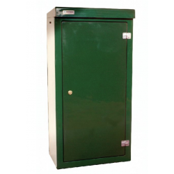 Double door kiosk open
