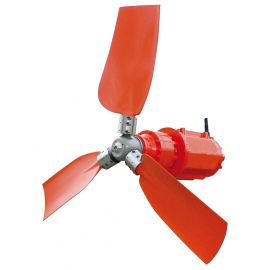 Horizontal submersible mixer with propellers