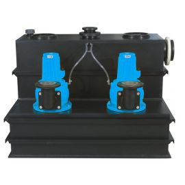 Above-Ground Pumping Station with Single/Dual Channel Pump - Vortex Duel