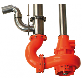 PTEM vertical chopper pump with nozzle jet mixer