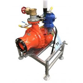 Cri-Man PTH high pressure centrifugal chopper pump on T-T frame