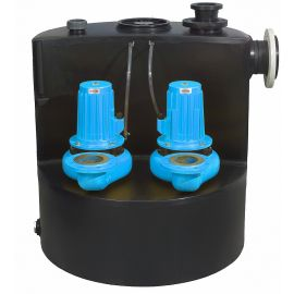 Above-Ground Pumping Station with Single/Dual Large Vortex Pump