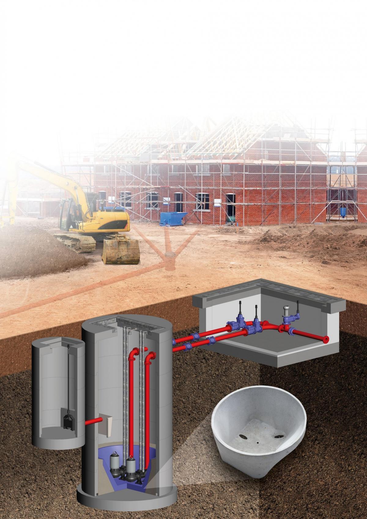 Sewage Pumping Station Construction